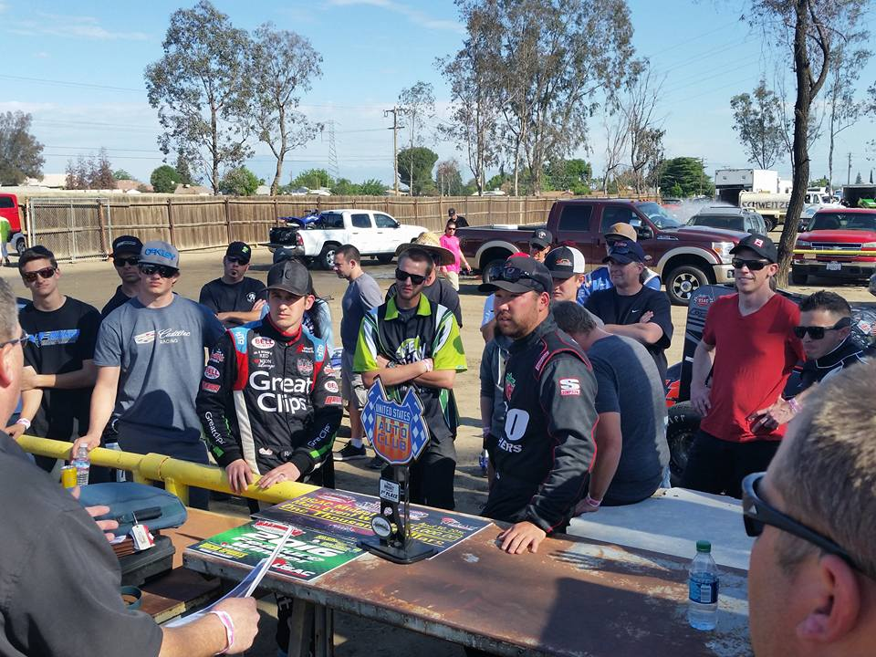 Hagen and Ito - Drivers Meeting - Bakersfield - 4-30-16
